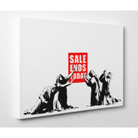Banksy Canvas Print - Sale Ends Today