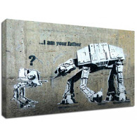 Banksy Canvas Print - I am your father