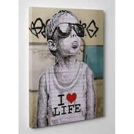 Banksy Canvas Print - I Love Life Boy