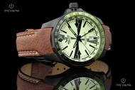 Vostok-Europe Radio Room Limited Edition Automatic Dual Time Full Lume Dial Leather Strap Watch - 2426-2254224
