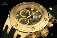 Invicta Women's Specialty Subaqua Gold Bezel Gunmetal Dial Strap Watch - 16087