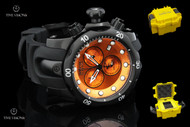 Invicta Men's Reserve Venom Chronograph Orange Dial Black Strap Watch - 5735