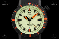 Vostok-Europe Mriya Limited Edition Full Lume Dial Automatic Strap Watch w/ 2 Extra Straps - NH35A-5554234