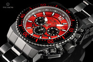Invicta Men's 48mm Pro Diver Quartz Chronograph Red Dial Bracelet Watch with Black Ionic Plating - 21958