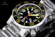 Reactor 41mm Atlas Black Dial Stainless Steel Bracelet Watch with 8 Layers Superluminova - 45007