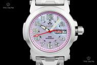 Reactor 33mm Women's Atom Pink Mother-of-Pearl Stainless Steel Bracelet Watch - 78013