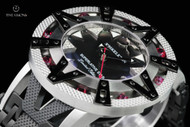Xoskeleton Men's 50mm Superlative Star Ruby Accented Limited Edition Black Mother-of-Pearl Automatic Bracelet Watch