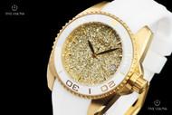 Invicta Women's 40mm Angel Stardust Sparkle Dial Swiss Quartz White Silicone Strap Watch - 22703