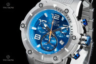 Invicta Men's 52mm Speedway Viper Caribbean Blue Dial Quartz Chronograph Stainless Steel Bracelet Watch - 19527