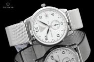 Junkers 39mm Dessau 1926 Flatline German Made Ultra Thin Stainless Steel Bracelet Watch - 6334M-1