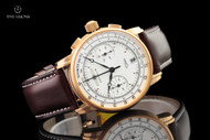 Zeppelin Men's 42mm 100 Year Edition 2 Series German Made Chronograph Cordovan Leather Strap Watch - 7672-1