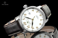 Zeppelin Men's 40mm LZ127 Graf Zeppelin Series German Made Caliber 821A Automatic Leather Strap Watch - 7656-1