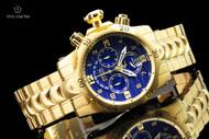 Invicta Men's 52mm Reserve Venom 18kt Gold Plated Swiss Quartz  Chronograph Bracelet Watch - 17635