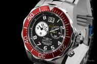 Invicta Men's Grand Diver Swiss Quartz Dual Time Carbon Fiber Dial Bracelet Watch - 14444
