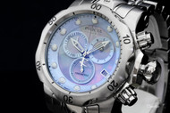 Invicta Men's Reserve Venom Swiss Quartz Chronograph MOP Dial SS Bracelet Watch - 80574