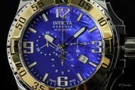 Invicta Reserve Men's Excursion Swiss Quartz Blue MOP Dial Chronograph Stainless Steel Bracelet Watch - 80705