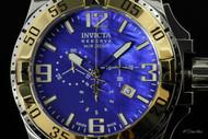 Invicta Reserve Men's Excursion Swiss Quartz Blue MOP Dial Chronograph Stainless Steel Bracelet Watch - 80705