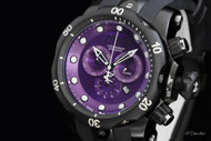 Invicta Reserve Men's Subaqua Venom Purple Dial Swiss Made Quartz Chronograph Strap Watch - 11157