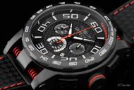 Invicta Men's S1 Rally Black Carbon Fiber Dial Quartz Chronograph Strap Watch - Model 15905