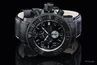 Invicta RESERVE Sea Hunter Swiss Automatic A07 Chrono Leather Strap Watch - 0604