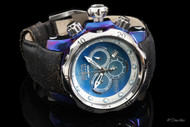 Invicta Reserve Venom Swiss Chronograph Titanium Case Leather Strap Watch - 15997
