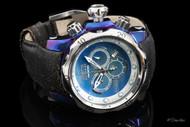 Invicta Reserve Venom Swiss Chronograph Titanium Case Leather Strap Watch - 15997