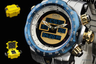 Invicta 'Intrinsic' Ana/Digi Reserve Venom Stainless Steel Bracelet Watch & Dive Case- 12586