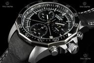 Vostok-Europe N1 Rocket Quartz Chronograph Leather Strap Watch - 6S30-2255177