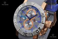 TechnoSport Stainless Steel Case Quartz Chronograph Silicone Strap Watch - TS-230-7