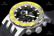 Invicta Men's DNA Stainless Steel Case Silicone Strap Watch - 12414
