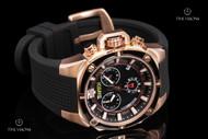 TechnoSport Stainless Steel Case Quartz Chronograph Silicone Strap Watch - TS-100-S1