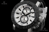 TechnoSport Stainless Steel Case Quartz Chronograph Silicone Strap Watch - TS-230-8