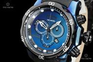 Invicta Reserve Venom Swiss Chronograph Titanium Case Leather Strap Watch - 16000