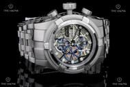 Invicta Reserve Bolt Zeus Swiss Automatic SW500 Chronograph Skeletonized Dial Bracelet Watch - 12761
