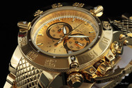 Invicta Subaqua Noma III Swiss Chronograph Mirror Polish 18K Gold Plated Bracelet Watch - 14500