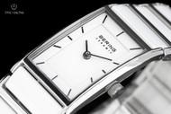Bering Time Women's White Dial Ceramic Bracelet Quartz Watch - 30121-754