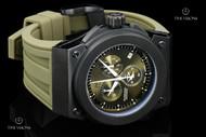 Invicta Reserve Akula Swiss Quartz Olive Dial Chronograph Strap Watch - 12030