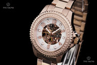 Invicta Women's Angel Mechanical Mother-of-Pearl Skeletonized Dial Bracelet Watch - 16705