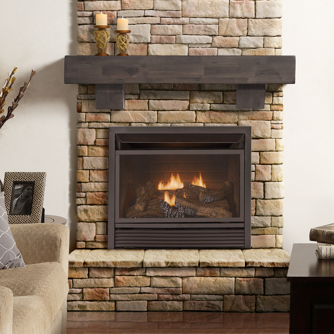 Gas Fireplace Ventless Inserts 26k Btu Dual Fuel Vent