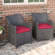 Wicker Patio Chair Set