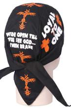 Christian Biker Du Rags (Skull Caps, Doo Rags)Loyal To One - Wide Open Till You See God then brake