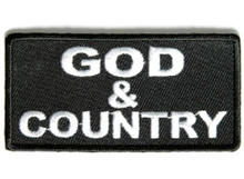 God & Country Biker Patch