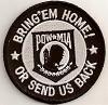 """Christian Biker PatchesBring'em Home Or Send Us Back POW Patch 3"""""""