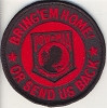 Bring'em Home Or Send Us Back POW Patch With Red Lettering Biker Patch