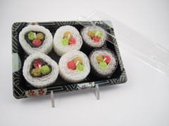 Beeswax Sushi Candles in To Go Box