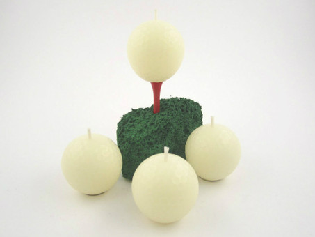 Beeswax Golf Ball Votive Candles in Ivory