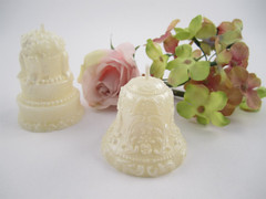 Beeswax Wedding Bell and Cake Votive Candles