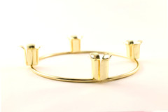 Brass Plated Advent Candle Ring