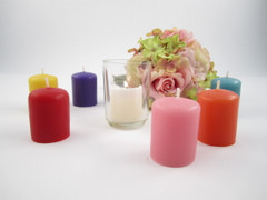 Colorful Beeswax Wedding Votives