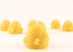 Beeswax Beehive Votive Candle in Natural